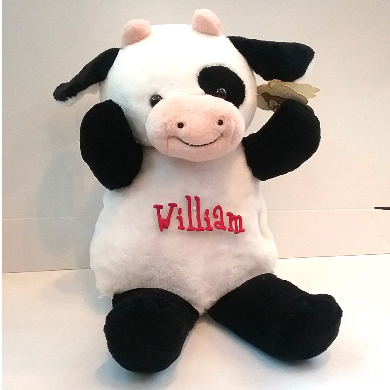Personalized Cow Stuffed Toy The Initial Design Gifts Monograms