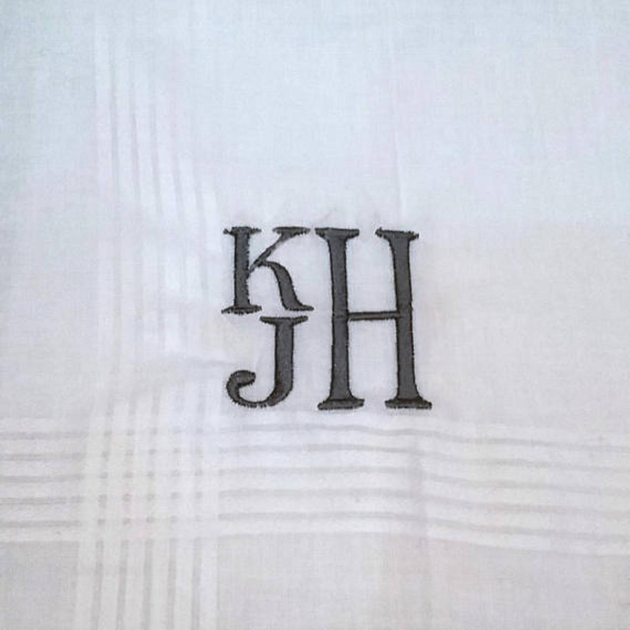 8ca9213e06 Men s Handkerchief Stacked Monogram Style
