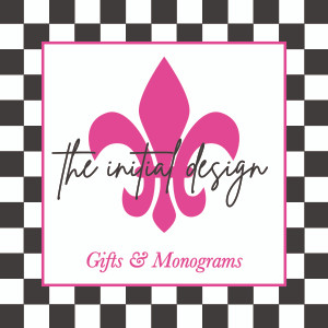 The Initial Design: monograms+embroidery
