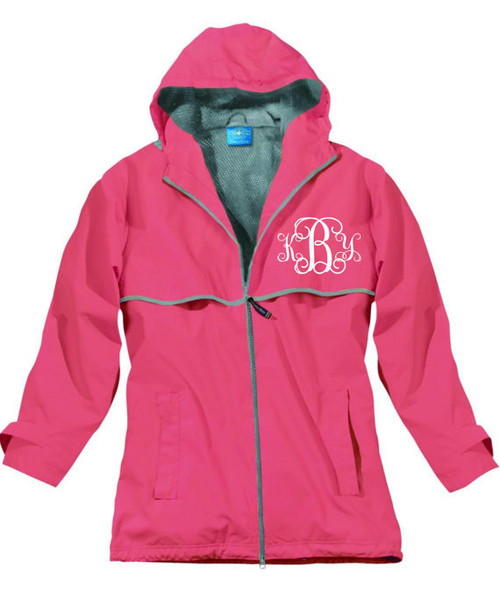 Personalized Rain Jacket with Monogram