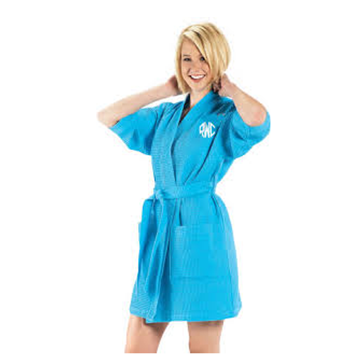 Personalized Spa Bath Robe in turquoise