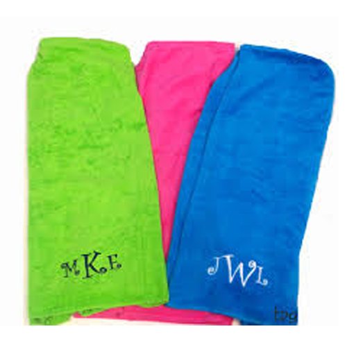 Personalized Towel Wrap