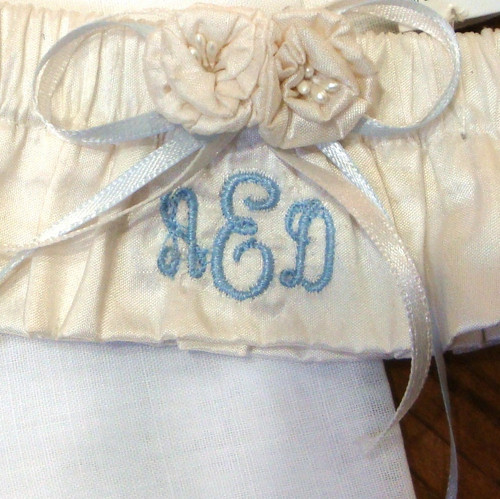 Monogrammed Bridal Garter