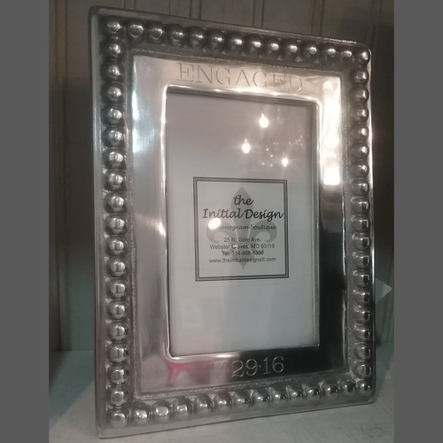 Engraved Beaded Frame