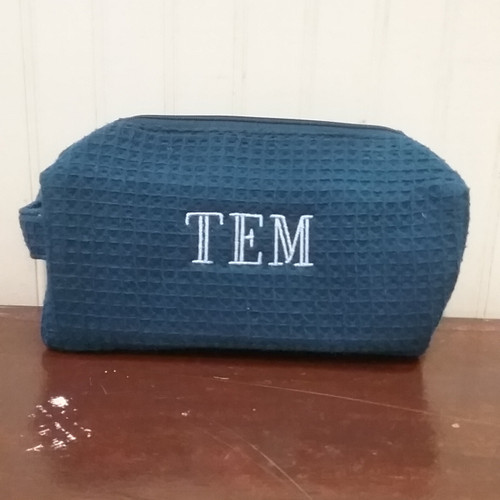 Mens Cosmetic Bag Personalized with Mens Monogram