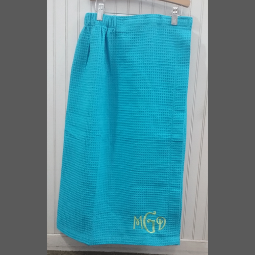 Personalized Waffle Weave Towel Wrap