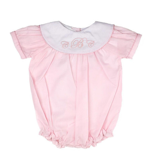 Monogrammed Pink Baby Bubble