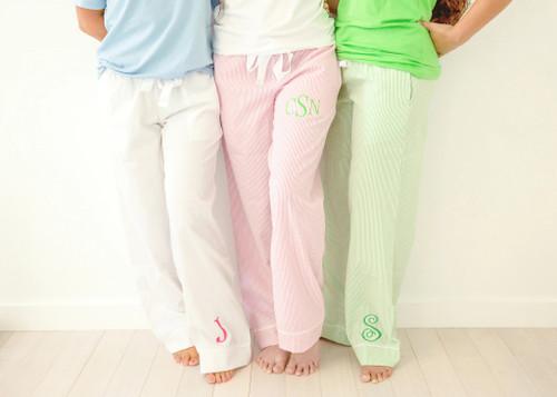 Seersucker Lounge/Sleep Pants