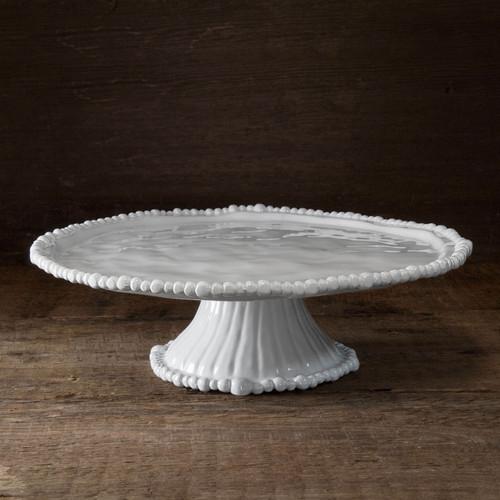 Beatriz Ball Melamine Pedestal Cake Plate White