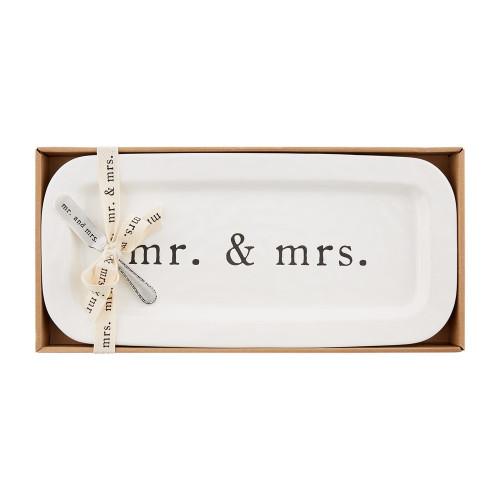 Mr. & Mrs. Ceramic Tray Set