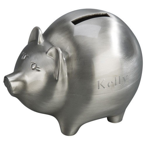 Piggy bank with brushed finish