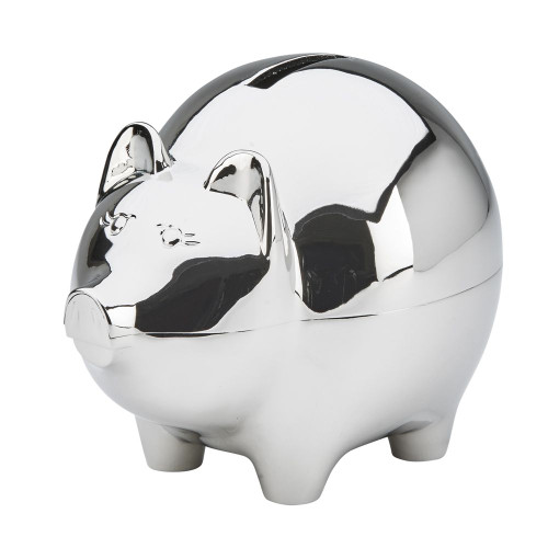 Large piggy bank with polished finish with engraving