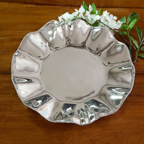 Beatriz Ball PEARL Denisse Round Platter engraved
