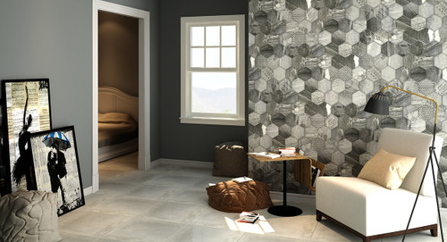 Vivid hexagonal premium tiles, suitable for wall and floor.