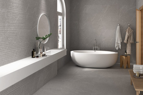 Natural looking stone-effect premium wall and floor porcelain tiles.