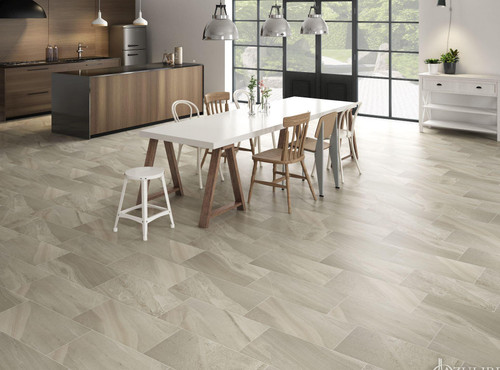 Beige porcelain premium wall and floor tiles. Explore our large selection of stone-effect tiles. One of the cheapest and largest retailers in the UK.