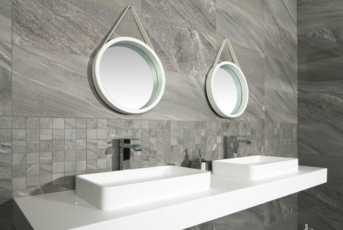 Perfect for bathrooms, these stone-effect porcelain tiles will give you that premium refreshing look your home deserves.