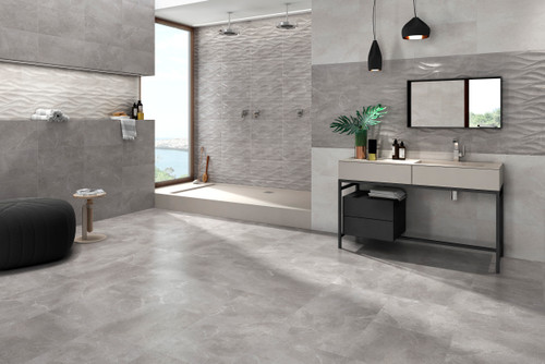 marble design porcelain floor tiles for use in living spaces, kitchen, and bathrooms.