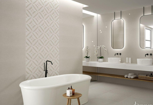 Wall premium ceramic tile, concrete effect, add a touch of chic and only pay the low internet price.