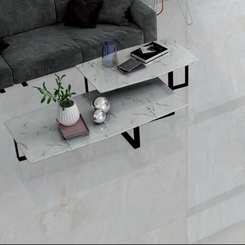 Marble look grey porcelain floor and wall tile to exemplify any living space in your home
