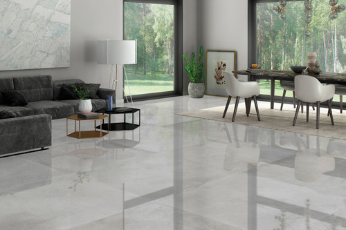 Glossy wall and floor porcelain tiles, polished and of the trendiest range. Suitable for living spaces, bathroom, and kitchen walls and floors.
