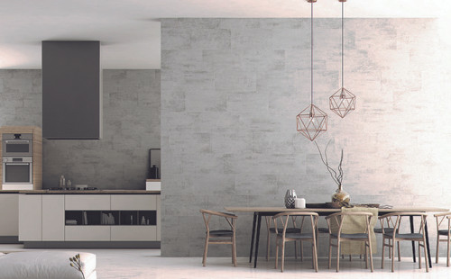 Kayi range, concrete effect grey porcelain wall and floor tile. Anti-slip rating 9