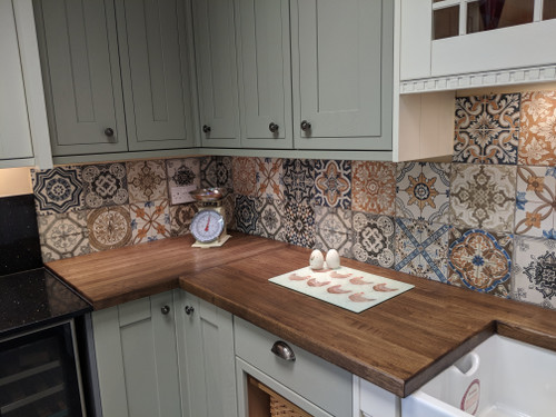 patterned wall and floor porcelain tiles for your kitchen and bathroom.
