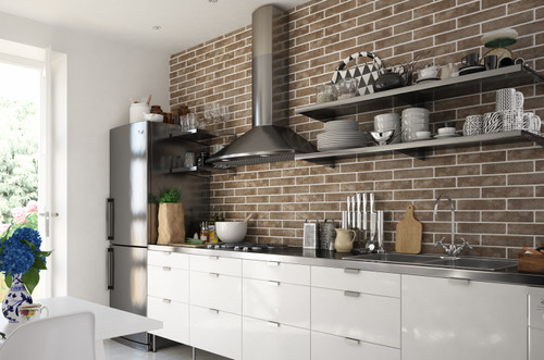 Metro brick style, porcelain, wall tiles for living room, kitchen and can be used in an ideal bathroom