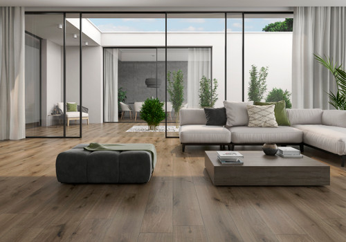 Sauvage outdoor and indoor wood effect porcelain tiles with an anti slip rating.