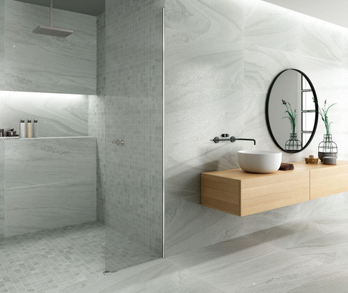 Semi polished and matt option premium porcelain wall and floor tiles suitable for living spaces and also kitchen and bathroom.