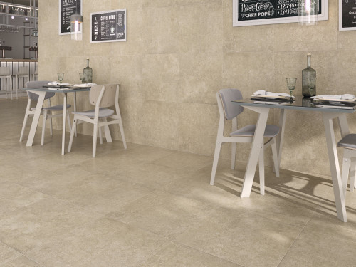 High quality cream porcelain floor tile at incredibly low price. Order a sample today.