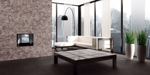 Grey brick effect porcelain wall tiles for indoor and outdoor use. Buy today for a next day delivery.