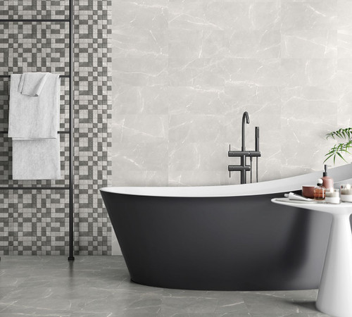 Grey porcelain floor and wall tile for the bathroom kitchen lounge or the bedroom.