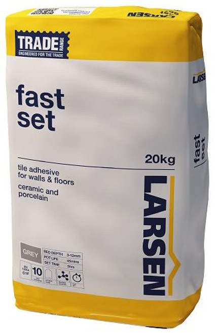 Fast set trade larson 20kg wall and floor tile adhesive