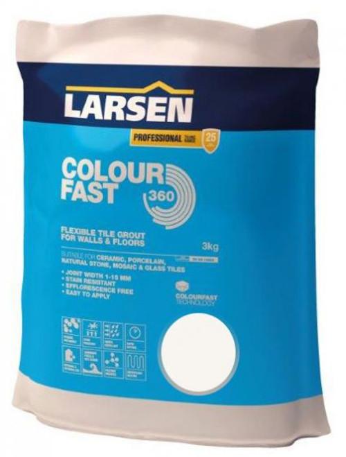 Buy Larsen Colour Fast 360 Flexible Wall & Floor Grout White 3kg