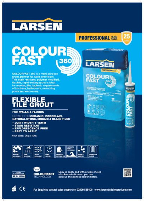Colour Fast 360 Flexible Wall & Floor Grout Brown 3kg