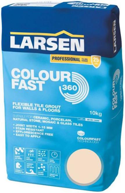 Buy Larsen Color Fast 360 Flexible Wall & Floor Grout Ivory 10kg