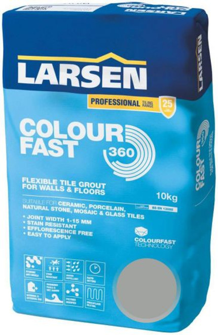 Colour Fast 360 Flexible Wall & Floor Grout Grey 10kg