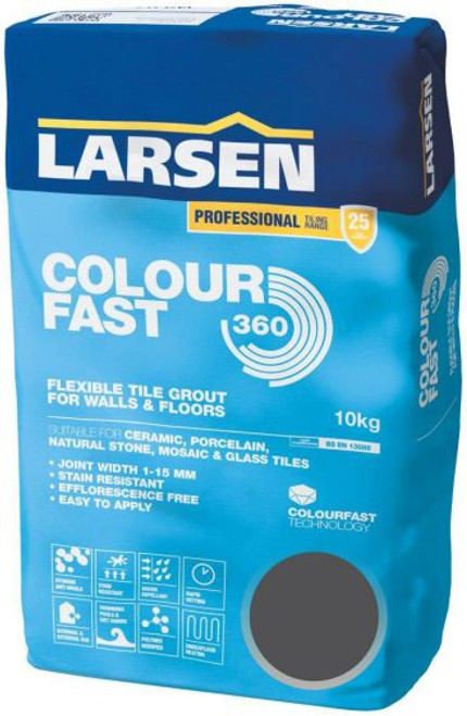 Colour Fast 360 Flexible Wall & Floor Grout Anthracite 10kg