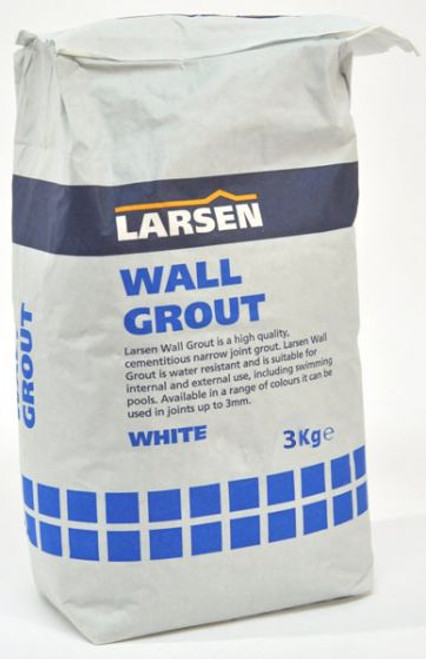 Trade White Wall Tile Grout 3kg