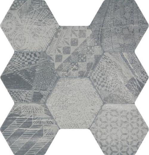 Sren Geo Hexagonal Grey Porcelain Tile