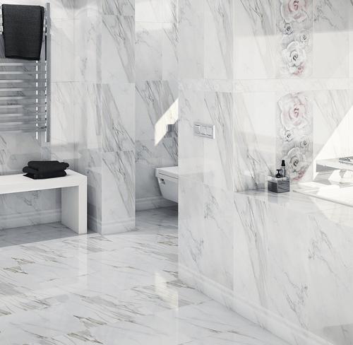 Premium design tile, marbella rose decor feature tile, rose design
