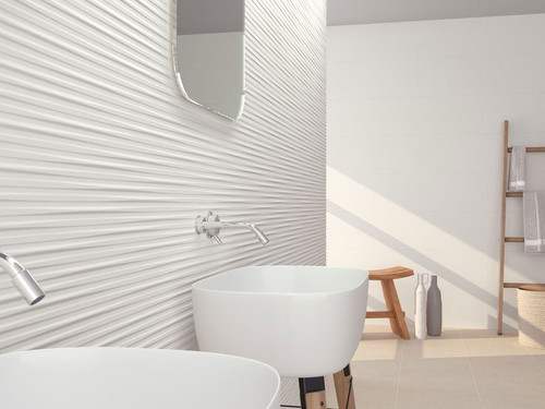 Buy rectified white matt ceramic wall tiles for your home.