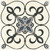 Patterned porcelain floor tiles for kitchen, bathroom, and living areas.