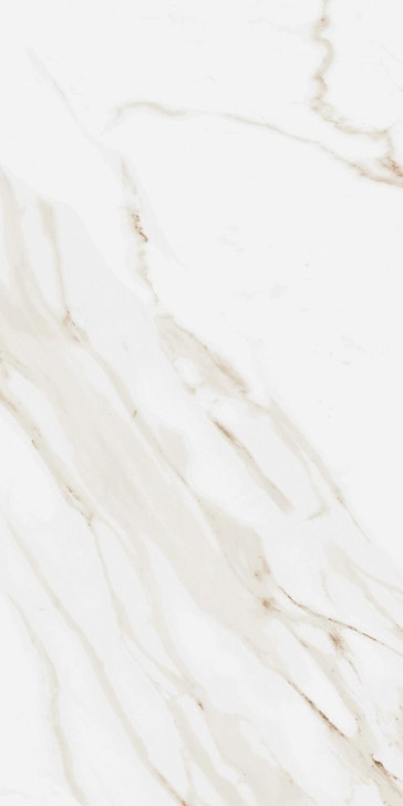 Tuscany Calacatta gold porcelain marble effect glossy wall and floor tiles.