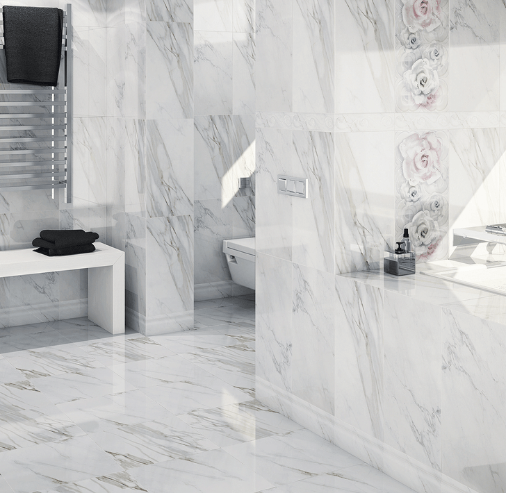 Marble look ceramic floor tiles. Can be used on the walls. Bathroom tiles, kitchen tiles. living room tiles, floor tiles, wall tiles.