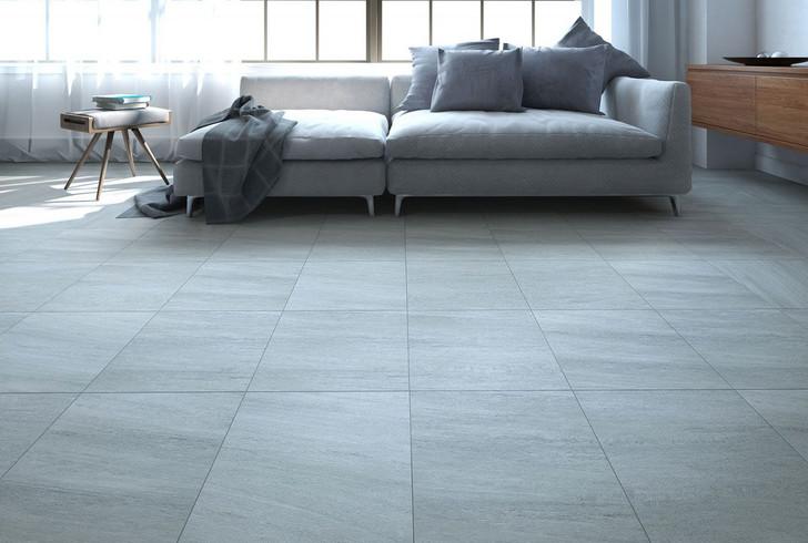 Grey floor tile. Stone effect, concrete look, floor and wall tile.