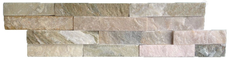Oyster Split face quartzite natural stone feature wall tile.