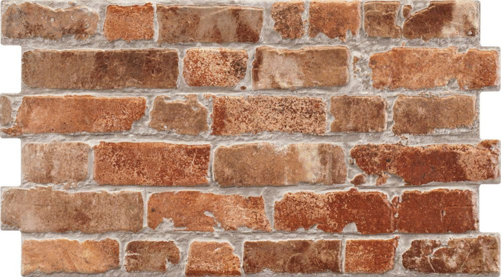 Rustic Masonry Porcelain red brick effect wall tiles for the indoor and outdoor. Can be used as bathroom tiles and kitchen tiles, also the lounge and hallway.