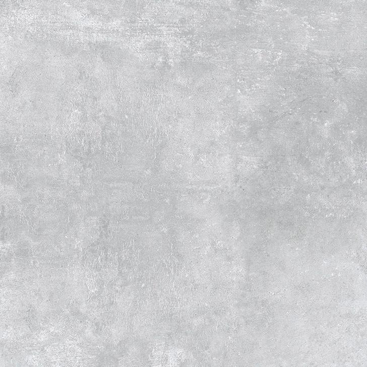 Large format matt effect porcelain floor tiles in grey